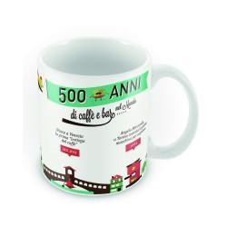 Decorated coffee mug - Coffee's history - 1 piece