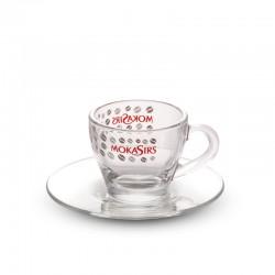 6 glass Espresso cups set