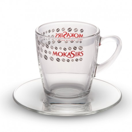 6 glass coffee mugs set