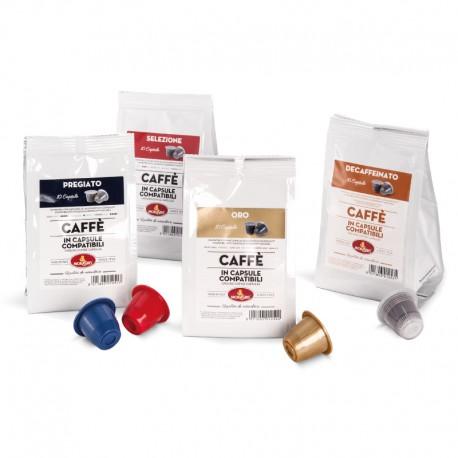 Mixed Nespresso compatible capsules box - 40 capsules