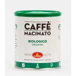 ORGANIC - Ground coffee for moka pot, filter coffee and cold brew - 1000 g (4 x 250 g tin)