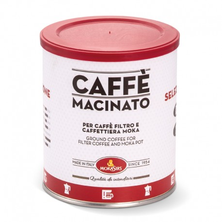 Ground coffee for moka coffeepot - 1000 gr (4 x 250 gr tin)