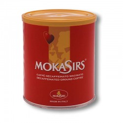 DECAFFEINATED ground coffee for moka coffeepot - 1000 gr (4 x 250 gr tin)