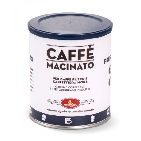 PREGIATO - Ground coffee for moka coffeepot and filter coffee - 1000 g (4 x 250 g tin)