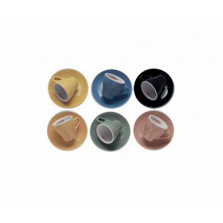 6 multi-colors Espresso cups set